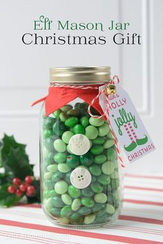 Elf Mason Jar Gift Idea   25+ Mason Jar Gift Ideas
