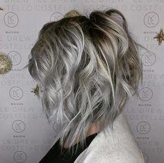 Grey textured bob via Miss Vinceyy