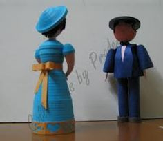 3d quilling dolls - Google Search