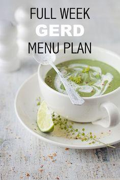 Free 7-Day Menu Plan to deal with Gastro-oesophageal reflux (GERD) Ulcer Diet, Gastritis Diet, Low Acid Recipes, Acid Reflux Recipes, Foods For Acid Reflux, Anti Reflux Diet, Acid Reflux Diet Plan, Menu Dieta, Acid Reflux Remedies