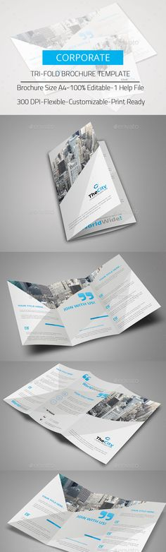 TriFold Brochure #business #marketing  • Download here → https://graphicriver.net/item/trifold-brochure/13578359?ref=pxcr