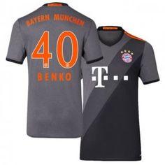 16-17 FC Bayern Munich Cheap Away #40 Benko Replica Football Shirt [I00506]