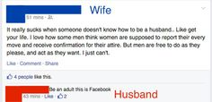 A Married Couple On Facebook