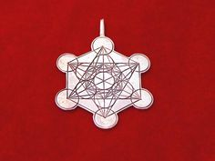"""Metatron Cube Silver - Cross culture, sacred geometry symbol for inner peace and spirituality. The Metatron Cube A known harmonious structure from sacred geometry named after the Archangel Metatron.  Metatron appears in Jewish tradition, Christian tradition, and in some aspects of Islam.  Metatron is in charge of all of creation and is considered an Arch angel as well as a judge.   The structure of Metatron cube arises from the structure of the """"Fruit of Life"""" and found around the ..."""
