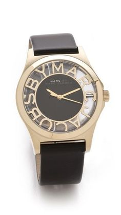 Marc Jacobs Henry Skeleton Leather Watch