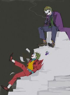 Read from the story Galería Joker by with reads. Batman Robin, Le Joker Batman, Batman Arkham City, Joker Art, Batman Art, Joker And Harley, Batman Joker Wallpaper, Gotham City, Joaquin Phoenix