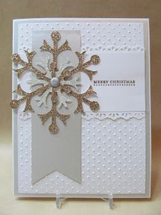 "cut strip for verticle...use ribbon or strip for horizontal...use snowflake embellishments or other ""tag"" embellishments"