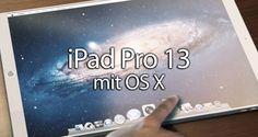 iPad Pro 13 mit OS X, Maus & Keyboard? - http://apfeleimer.de/2014/02/ipad-pro-13-mit-os-x-maus-keyboard - Nicht nur das iPhone 6 soll größer werden, auch dem Apple iPad wird nachgesagt dass ihm bald ein großer Bruder in Form eines 12 – 13 Zoll iPad Prozur Seite stehen wird. SetSolutions zeigt uns derweil ein interessantes Konzept zu einem möglichen iPad Pro 13 der anstelle iOS auf OS X setzt u...