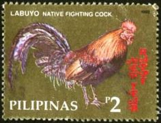 Philippines Stmp - Native fighting cock Labuyo