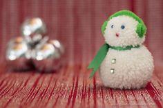 Muñequito de nieve con lana paso a paso #DIY