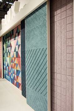 """BAUX presents their new acoustic panels and tiles at the Stockholm Furniture Fair 2015. Stand design by BAUX and Form Us With Love.  Learn more at <a href=""""http://www.baux.se"""" rel=""""nofollow"""" target=""""_blank"""">www.baux.se</a>"""