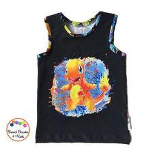 a157b8b3 Kids Custom Pokemon Theme Shirt, Kids Tank Top size 5-6T, Ready to Ship