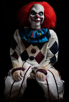 disfraz terrorifico Dead Silence Mary Shaw Clown Puppet Prop Trick or Treat Halloween In Stock Creepy Clown Makeup, Scary Clown Costume, Gruseliger Clown, Clown Horror, Clown Faces, Halloween Clown, Cool Halloween Costumes, Halloween Outfits, Halloween Photos