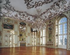 Amalienborg Palace, great hall. Copenhagen. One of the finest example of rococo in Northern Europe.