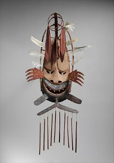North Wind Mask (Negakfok) Early 20th C Alaska USA