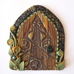 Celtic Fairy Door Pixie Portal by Claybykim on Etsy,