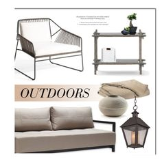 """""""Outdoor Living"""" by lovethesign-eu ❤ liked on Polyvore featuring interior, interiors, interior design, home, home decor, interior decorating, Troy, Home, homedecor and outdoor"""