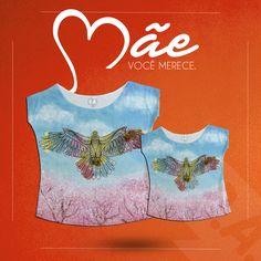 Para as mais estilosas T-shirt Pássaros tal mãe tal filha!  #talmãetalfilha #pássaros