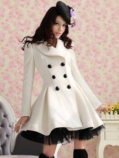 Slim Casual Women's Wool cashmere Coats double breasted trench Fashion long coat WT4065 US $29.80