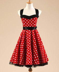 Black and Red Polka Dot Vintage Dress