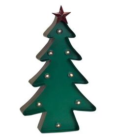 This Green Marquee LED Light-Up Tree Statue is perfect! #zulilyfinds