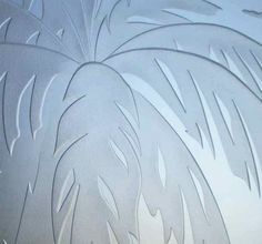 Deep Carving Glass | Alternate view of Palm Sunset 3D Private Door