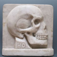 Marble Double Sided Skull Sculpture   From a unique collection of antique and modern sculptures at https://www.1stdibs.com/furniture/more-furniture-collectibles/sculptures/