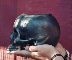 Ceramic skull Self watering planter 💀🌱💀🌱💀 Available at… Skull Planter, Cold Mountain, Porous Materials, Self Watering Planter, Human Skull, Ceramic Planters, Ceramic Pottery, Ceramics, Glaze