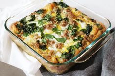 """Turkey & Egg Breakfast Casserole This is one of my easy go-to healthy breakfast recipes. The Turkey Egg Breakfast Casserole is also a family favorite and falls under the """"paleo"""" category. Healthy Breakfast Casserole, Healthy Breakfast Recipes, Paleo Recipes, Cooking Recipes, Breakfast Bake, Breakfast Buffet, Protein Breakfast, Diet Breakfast, Breakfast Ideas"""