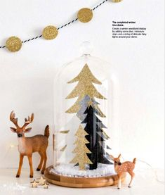 Glittery papercut winter trees in a bell jar is a project in the book Paper Christmas Paper Christmas Decorations, Christmas Paper Crafts, Christmas Tree, Christmas 2019, Craft Bells, Crafts To Make, Diy Crafts, Class Decoration, Christmas Templates
