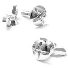 Nut and Bolt Cufflinks;  I like the wing nut here. if my man used them this would be his style