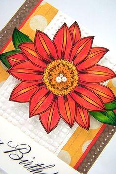 Art Grip Colored Pencils card by Jill Foster.