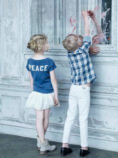 Zadig & Voltaire Enfants, Printemps Eté 2013 pour filles et garçons l #checkedshirt #customization #sweater