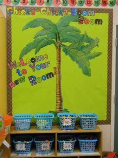 Image detail for -images of free welcome back to school bulletin boards They used CTP's Poppin' Patterns letters and Lots of Dots Brown Borders for their monkey theme classroom!