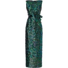 7e02bacd72d Norman norell Green mermaid evening gown with bow detail