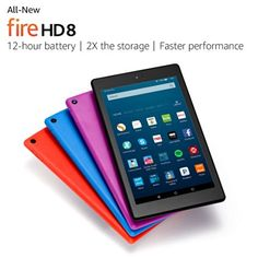 "All-New Fire HD 8 Tablet, 8"" HD Display, Wi-Fi, 32 GB - #christmasgiftideas #greatgiftideas #firehd"