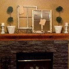 Old Windows on mantle?