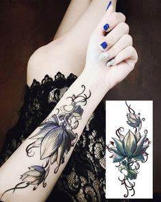 Flower fake tattoo, Tattoo, Temporary Tattoo, Tattoo Sticker, Sticker #faketattoo#Tattoo#TemporaryTattoo#TattooSticker#Sticker #TemporaryTattoo Tattoo Henna, Real Tattoo, Fake Tattoos, Body Tattoos, Flower Tattoos, Black Tattoos, Tattoo Stickers, Tatuajes Tattoos, Ink Transfer
