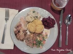 Thanksgiving Meal featuring an easy & delicious herb-roasted turkey breast!   thepajamachef.com