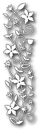 MEMORY BOX DIES - Fairytale Flower Border (98473)       1.4 x 5.5 inches