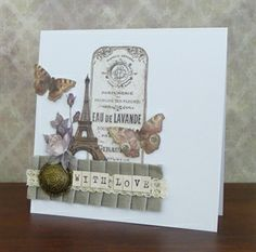 With Love Card by Paula Whittaker - Papermania Madame Payraud