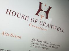 Another new brand The House of Cranwell. A local specialist corsetière based near Bedford. House of Cranwell create handcrafted under-garments. And Bluegreen Design created the logo and letterheads for this skilled corsetière. #Branding #BrandDesign http://www.bluegreendesign.co.uk/our-work/market-sectors/services/