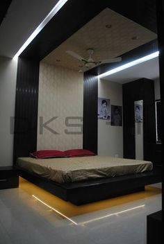 Floating Cot  Master Bedroom  Residential Interior Designs  Mr Captivating Bedroom Cot Designs Photos Decorating Design