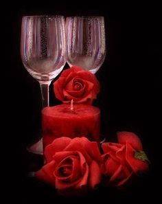 love-romance-image: most romantic love picture most romantic love pict. Romantic Love Pictures, Glass Photography, Flowers Gif, Amazing Gifs, Rose Images, Champagne Bottles, Rose Wallpaper, Most Romantic, Color Splash