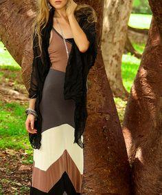Love this Cristina Love Mocha Wave Color Block Maxi Dress by Cristina Love on #zulily! #zulilyfinds
