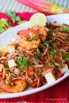 Malaysian Kerabu Beehoon (Rice Noodle Salad)   Healthy Malaysian Food Blog & Food Recipes