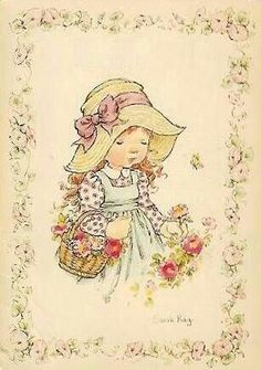 ✿¸¸.•*¨*✿¸¸.•*¨*✿¸¸.•*¨*✿¸¸.•*¨* ✿ Sarah Key, Anne Of Green, Vintage Drawing, Sweet Pic, Holly Hobbie, Australian Artists, Cute Illustration, Vintage Pictures, Vintage Cards