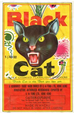 Black Cat C4 40-32 Firecracker Brick Label