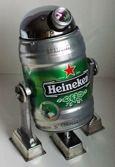 The Force needs a drink. Star Wars tribute beers. Beer2D2. Heineken R2D2 by Lockwasher Rocks.