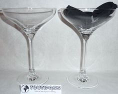 GREY-GOOSE-VODKA-2-VERRES-A-PIED-CALICE-COCKTAIL-DRY-MARTINI-BAR-BISTROT